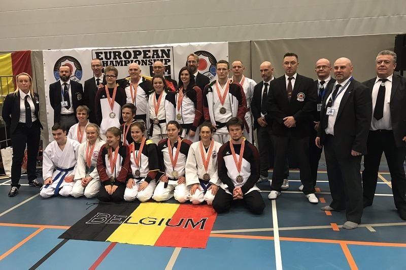 L'équipe Belge au Championnat d'Europe